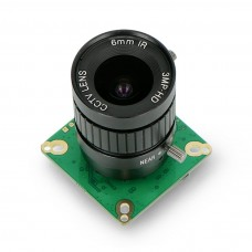ArduCam IMX477 camera 12.3MPx HQ with 6mm CS-mount lens, for Raspberry Pi, Jetson Nano and Xavier NX