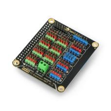DFRobot DFR0566 IO Expansion HAT for Raspberry Pi 4B / 3B+ / 3B / 2B