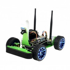 JetRacer, a 4-wheel robot platform with a camera, DC drive, and OLED display for Nvidia Jetson Nano, Waveshare 17607