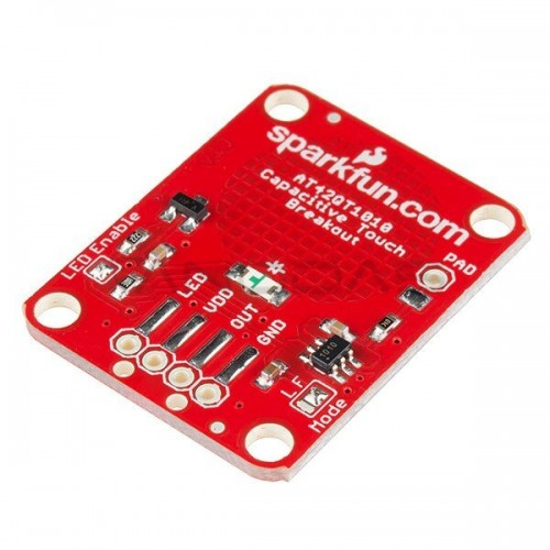 Jutiklinis mygtukas AT42QT1010, SparkFun modulis SEN-12041