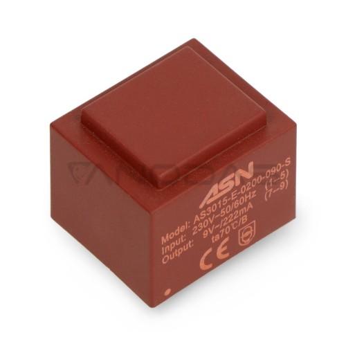 Izoliacijos transformatorius ASN AS3015 2W 230V/9V
