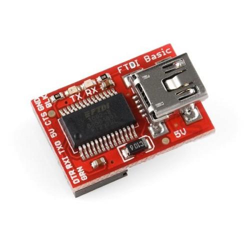 Keitiklis USB-UART FTDI 5 V miniUSB, SparkFun DEV-09716