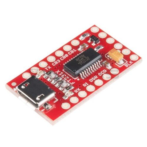 Keitiklis USB-UART FTDI FT231X 3.3 V / 5 V microUSB, SparkFun BOB-13263