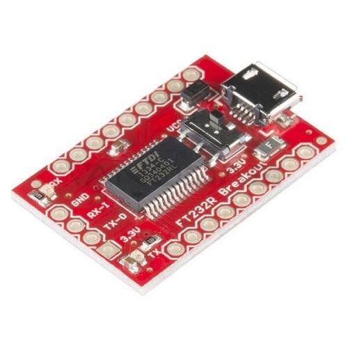 Keitiklis USB-UART FTDI FT232RL 3.3 V / 5 V microUSB, SparkFun BOB-12731