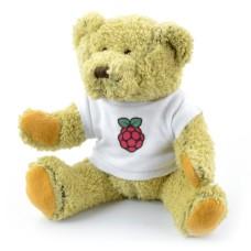 Teddy bear Babbage with Raspberry Pi logo