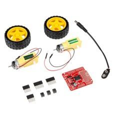 Ardumoto Drive Shield L298, Arduino priedėlis + varikliai ir ratai, SparkFun KIT-14180