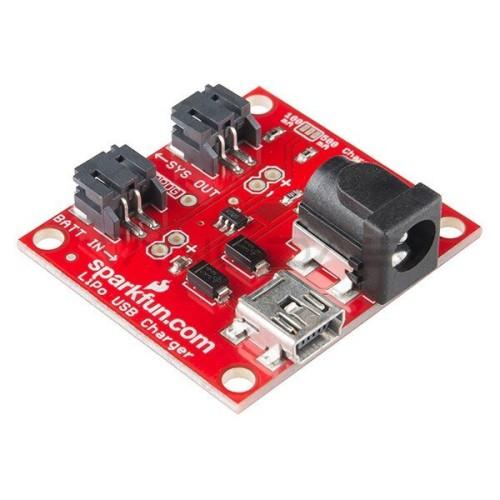 Li-Pol įkroviklio modulis 1S 3.7 V miniUSB, SparkFun PRT-12711