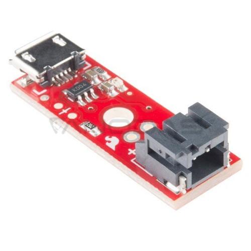 Li-Pol įkroviklio modulis 1S 3.7 V microUSB, SparkFun PRT-10217