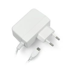 Power supply T6712DV for Raspberry Pi 3B+/3B/2B/Zero, microUSB 5.1V/2.5A, original white