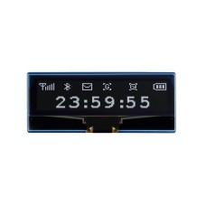 """2.23"""" 128x32px OLED ekranas, SPI/I2C, juodas/baltas, skirtas Raspberry Pi Pico, Waveshare 19750"""