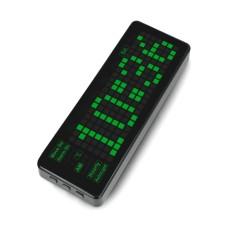 Pico-Clock-Green, modulis su skaitmeniniu LED elektroniniu laikrodžiu, priedėlis skirtas Raspberry Pi Pico, Waveshare 19695