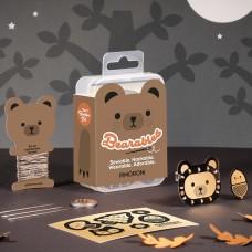 PiMoroni Bearables Bear rinkinys, LED ženklelis su judesio jutikliu