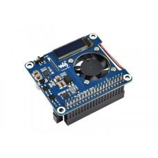 Power over Ethernet HAT (B), 802.3af PoE ir tinklo priedėlis, skirtas Raspberry Pi 3B+/4B, Waveshare 18014
