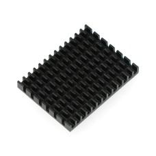 Radiatorius 40x30x5mm skirtas Raspberry Pi 4 su termolaidžia juosta - juodas