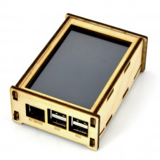 """The case for Raspberry Pi 3/2 with 4"""" screen, wooden"""