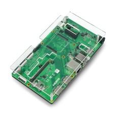 Raspberry Pi CM4IO dėklas - juodas ir skaidrus atviras