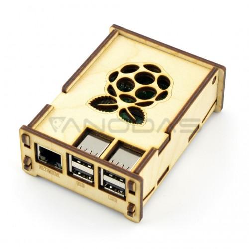 Raspberry Pi modelio 3B+/3B medinis dėklas