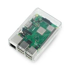 Raspberry Pi modelio 3B+/3B/2B dėklas, permatomas