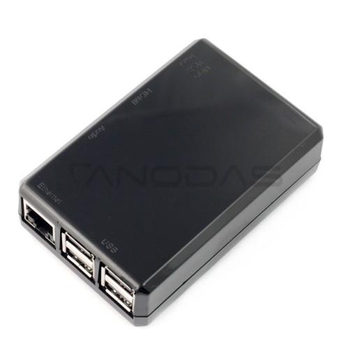 Raspberry Pi modelio 3B+/3B/2B dėklas, juodas