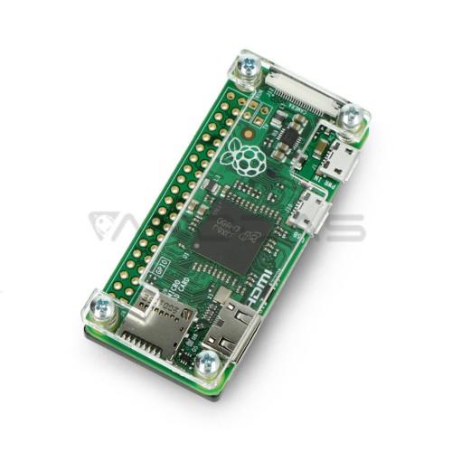 Raspberry Pi Zero dėklas, Fluo Open, permatomas-juodas