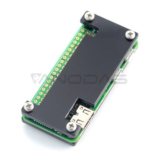 Raspberry Pi Zero dėklas, Fluo Open, juodas