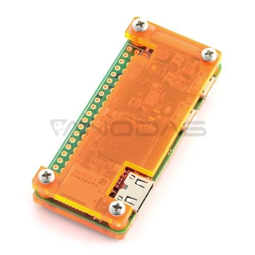 Raspberry Pi Zero dėklas, Fluo Open, oranžinis
