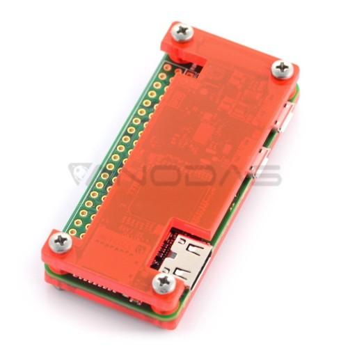 Raspberry Pi Zero dėklas, Fluo Open, raudonas