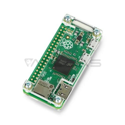 Raspberry Pi Zero dėklas, Fluo Open, permatomas
