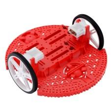 Romi važiuoklės komplektas, 2 ratų roboto važiuoklė, raudona, Pololu 3502