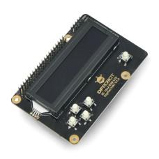 16x2 RGB LCD display I2C KeyPad, overlay for Raspberry Pi 3B+/4B, DFRobot DFR0603