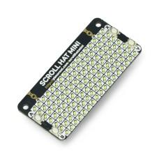 Scroll HAT Mini, 17x7 LED matrix, HAT for Raspberry Pi, Pimoroni PIM491