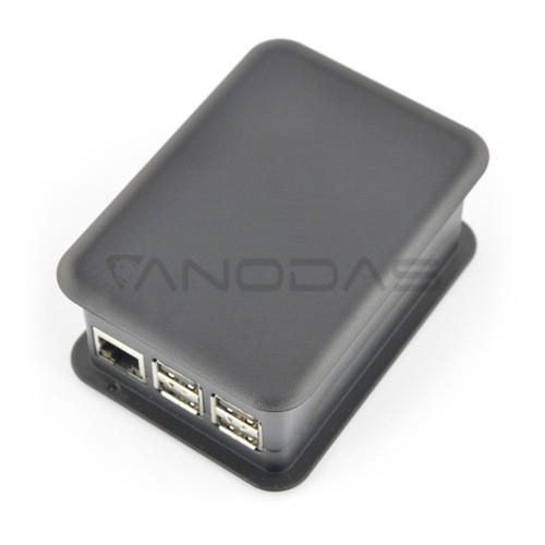 TEKO dėklas, skirtas Raspberry Pi modeliui 3/2/B+ su GPIO Hat, juodas