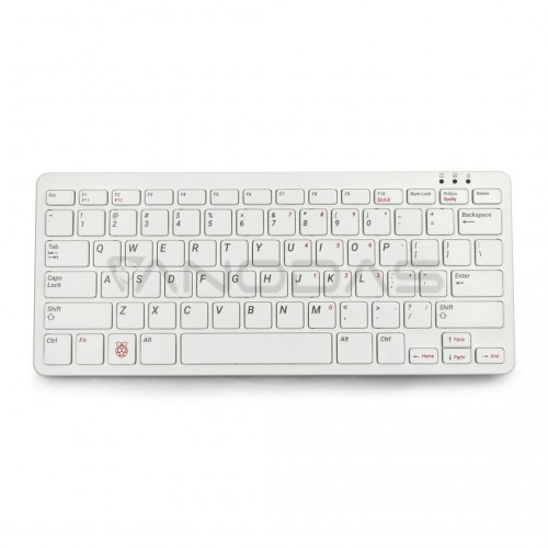 Oficiali Raspberry Pi modelio 4B/3B+/3B/2B klaviatūra, raudonai balta