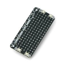 Unicorn HAT Mini, LED RGB matrix, for Raspberry Pi, Pimoroni PIM498
