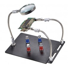 PCB magnetic fixing clamp table with magnifying glass