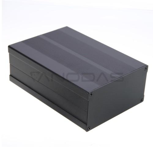 Aliumininė dėžutė 150x105x55mm - juoda
