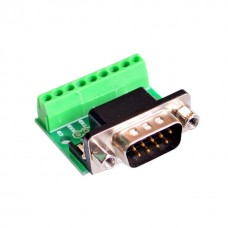 DB9 RS232 Serial to Terminal Male Adapter