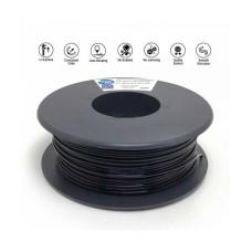 3D plastikas Flexible Filament Soft 85A 1.75mm 0.3kg - Black