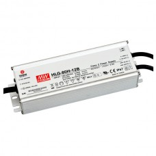 Mean Well power supply LED 12V 5A. valdomas. PFC. IP67. Mean Well