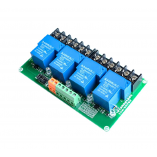 4-way high and low trigger 5V relay module intelligent home automation PLC control 30A