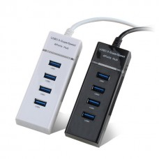 High Speed 4 lizdų USB 3.0 HUB - Baltas
