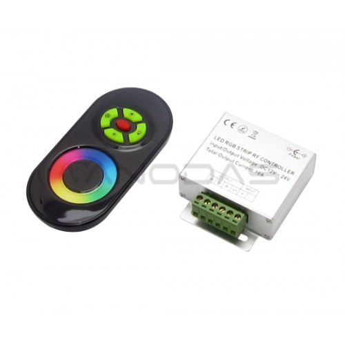 RGB juostos valdiklis 12-24V 216W / 432W juodas