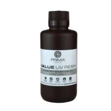 Resin for 3D printer - PrimaCreator Value Water Washable UV Resin 500 ml - Light Grey