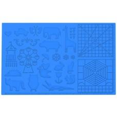 3D rašiklio silikono piešimo kilimėlis - 415 x 275 mm