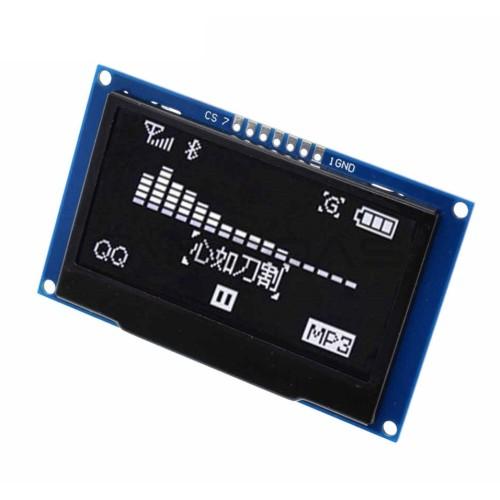 "OLED ekranas 2.42"" 128x64px 7pin - baltas"