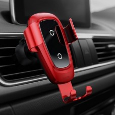 Baseus gravitational car holder with inductive Qi charger - Red