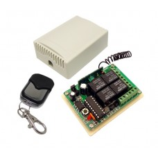 4 channels supply voltage 12 V 433 Mhz self lerning with remote control