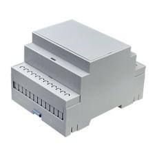 ABS plastiko modulinė dėžutė DIN bėgeliui D4MG (71x90.2x57.5)mm