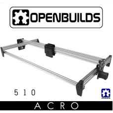 OpenBuilds ACRO System rėmas 500x1000mm - sidabrinis
