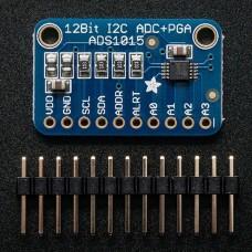 Adafruit ADS1015 12-Bit ADC - 4 kanalų keitiklis